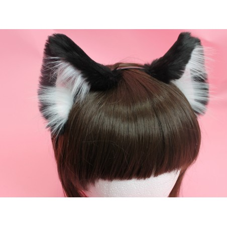 Black Realistic Cat Ears
