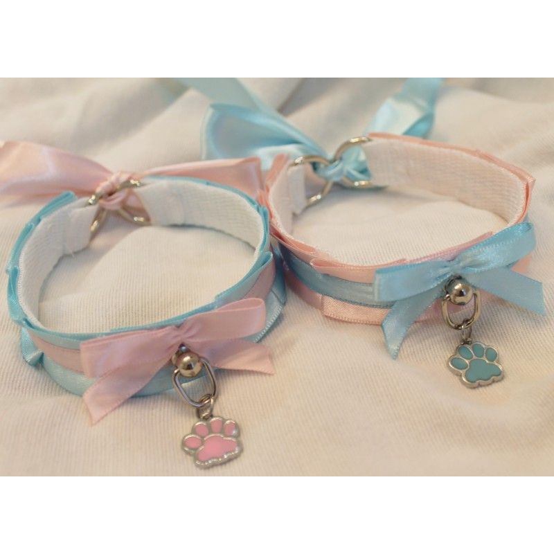Cotton Candy Collar(Blue/Pink)