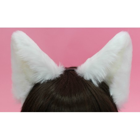 White Canine Ears