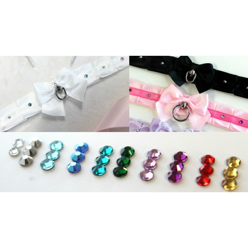 Add Crystals to Your Collar (Alternating Colors)