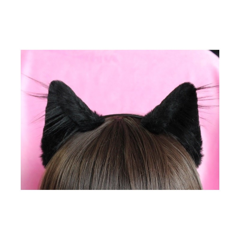 Black Realistic Kitten Ears (Smaller Ears!)