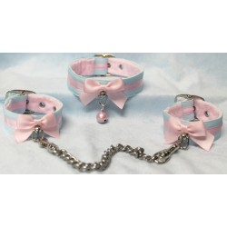 Cotton Candy Collar and Cuffs (Buckled)