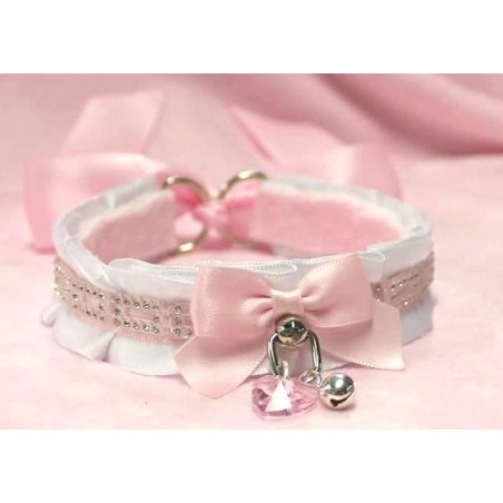 """Diamonds are a Kitten's best friend!"" Collar (Pink)"