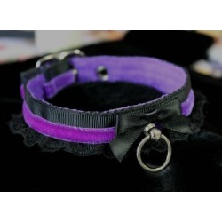 Bad Kitty Collar (Buckled/ Purple)