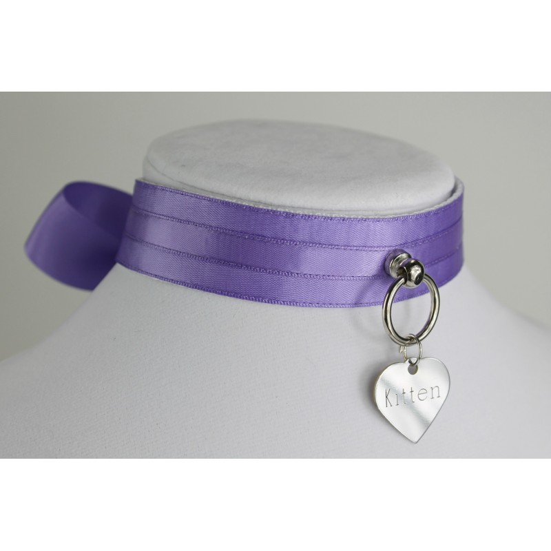 Mauve Satin Collar
