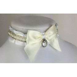 "12"" Pearls and Crystals Chain Collar"