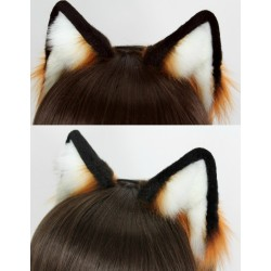 Red Fox Ears (Hand painted/dyed accents)