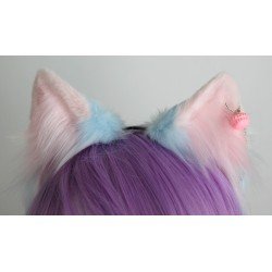 Cotton Candy Tipped Fox Ears