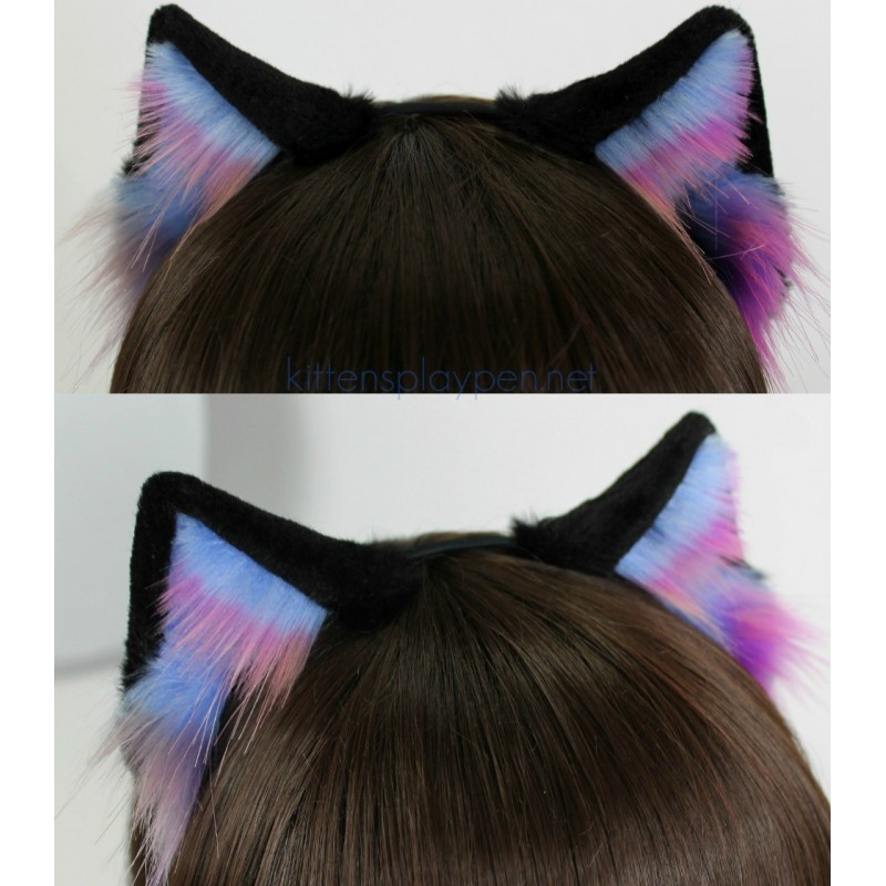Dark Nebule Kitten Ears (Realistic Kitten Pattern)