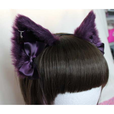 Aubergine Cat Ears (No front fluffs)