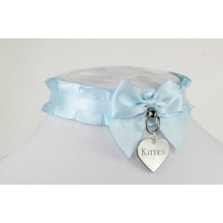 Baby Blue Pleated Collar