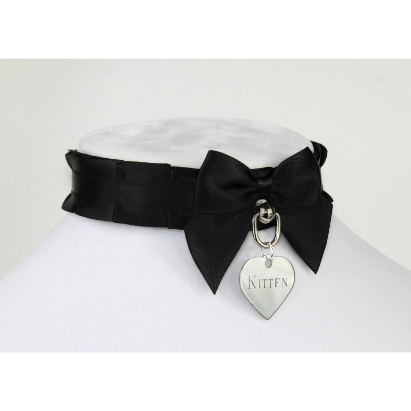 Black Pleated Collar