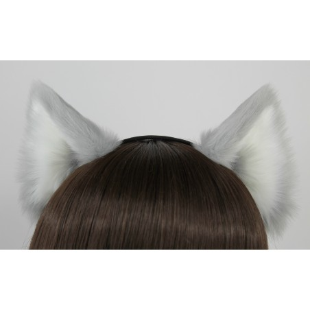Silver Grey Realistic Cat Ears