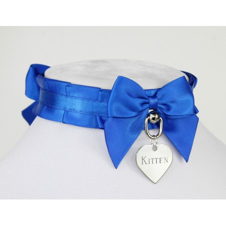 Royal Blue Pleated Collar
