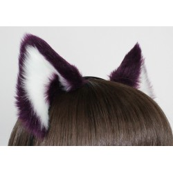 Aubergine & White Ears