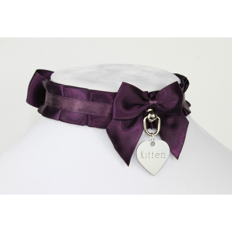 Aubergine Pleated Collar