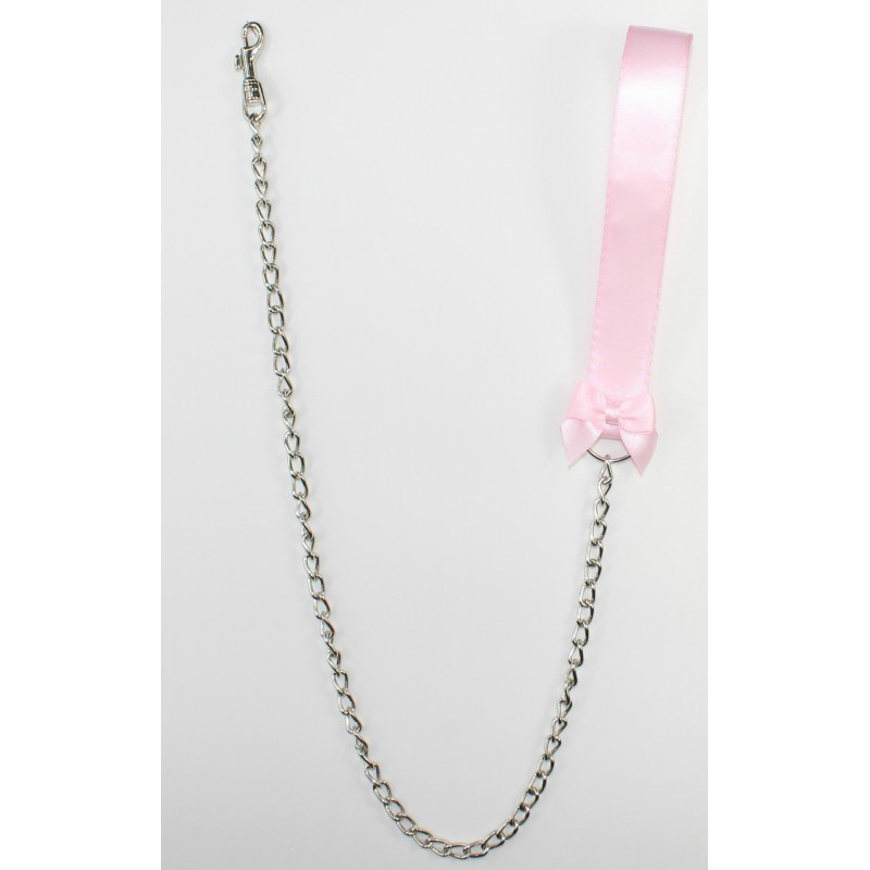Baby Pink Satin Leash