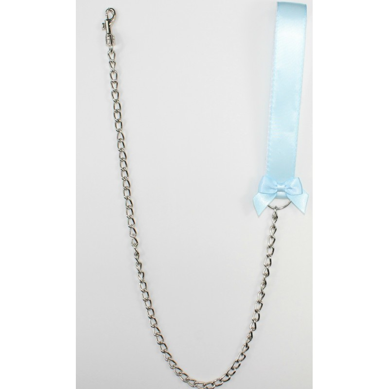 Baby Blue Satin Leash