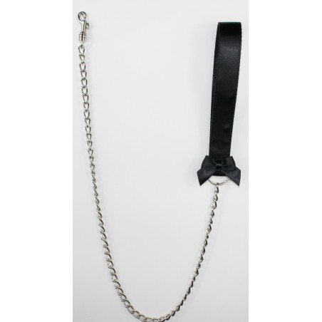 Black Satin Leash