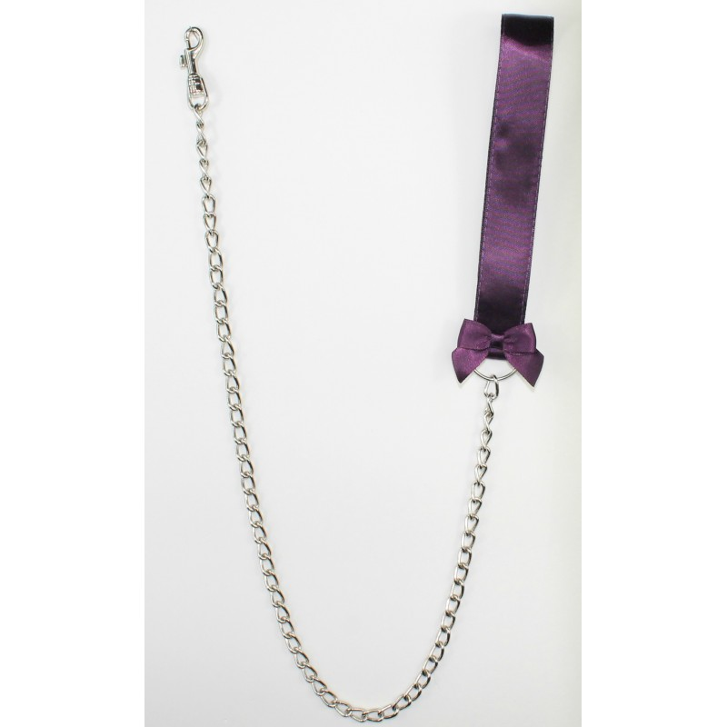 Aubergine Satin Leash