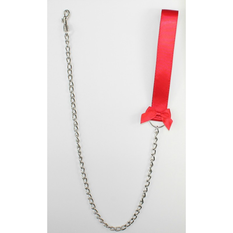 Red Satin Leash