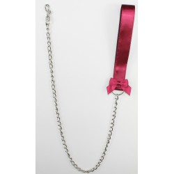 Burgundy Satin Leash