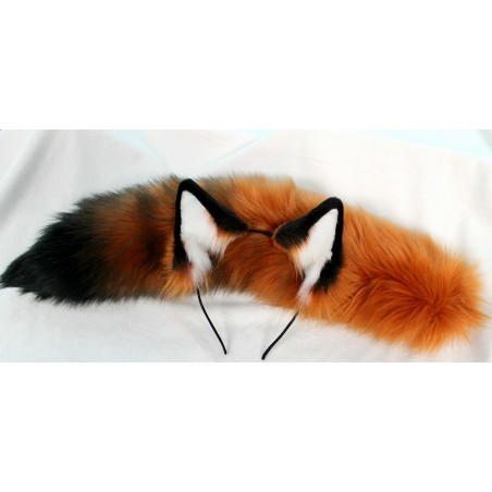 Red Fox Ears & Tail (Airbrushed)
