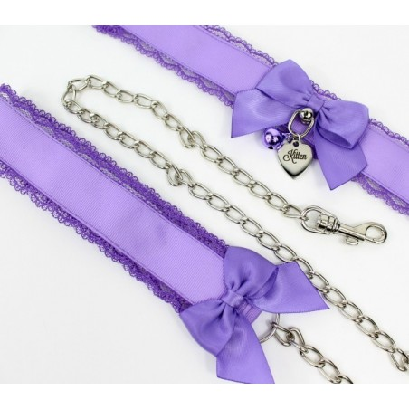 Lavender Lace Collar & Leash Set (Buckled)