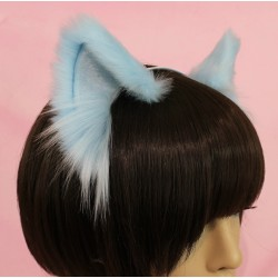 "Baby Blue Cat Set (Ears & 32"" long Tail)"