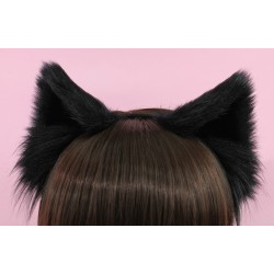 Black Cat Ears (No front fluffs)