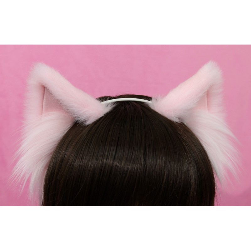 Baby Pink Cat Ears (No front fluffs)