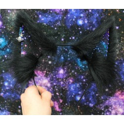 Dark Galaxy Fox Ears (No Front Fluffs)