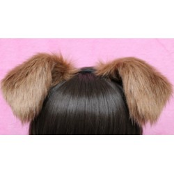 Toffee Puppy Ears (Nude Velvet Inside)