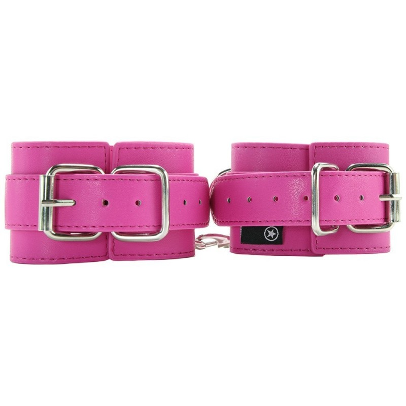 Pink Buckled Cuffs (Faux Leather)