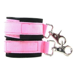 Neoprene Pink Cuffs (Waterproof)