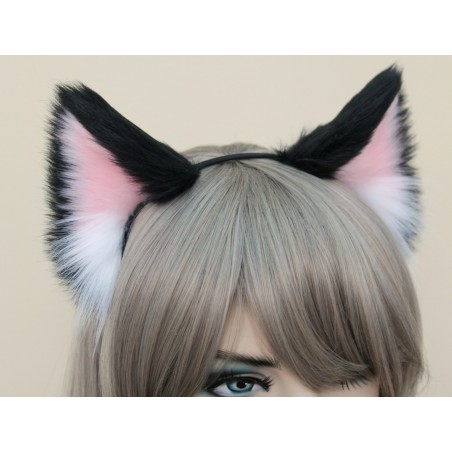 Black & Pink Cat Ears