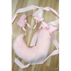 Baby Pink Puppy Set (Fully Wired Tail)