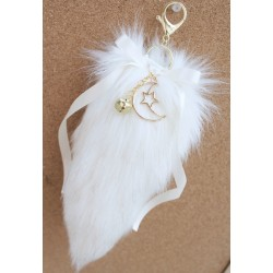 Ivory Fox Mini Tail (Keychain)
