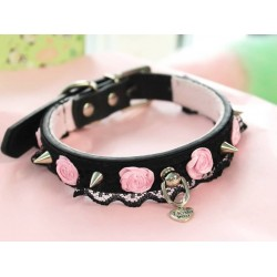 Studded Rose Lace Collar...